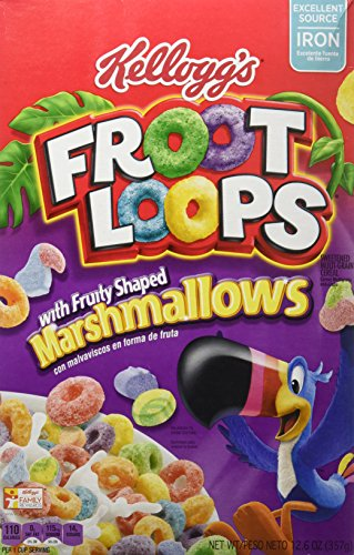 Kellogg's Froot Loops Cereal, Marshmallow, 12.6-ounce Boxes (Pack of 2) by Kellogg's (Image #1)