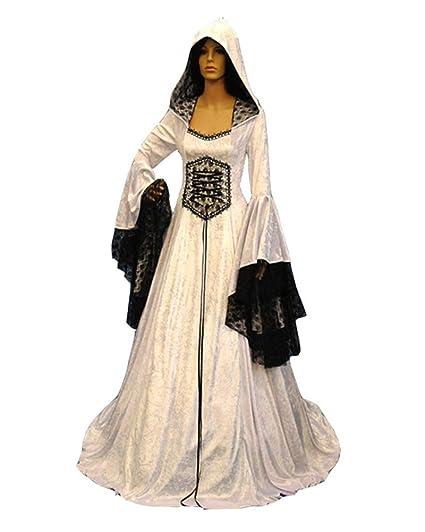 Runyue Vestido Largo de Traje Medieval Renacentista en ...