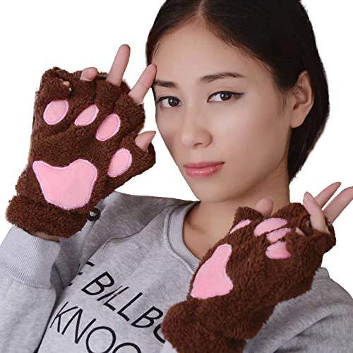 Womens Gloves, XOWRTE Winter Warm Wrist Arm Warmer Knitted Keyboard Long Fingerless Gloves Mitten - Ssg Winter Mittens