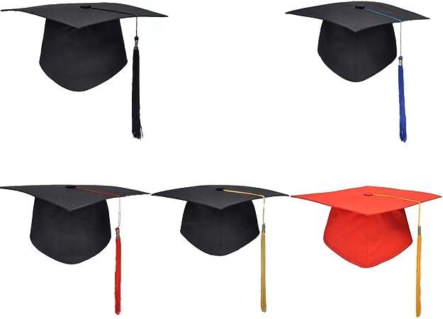 Supvox Graduation Hat Bachelor Hat Grad Cap with Loop Tassel Student Square College Cap Academic Dress