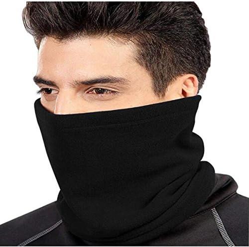 esqu/í senderismo-Negro ANSUG Calentador de cuello unisex Polar Fleece Neck Scarf Multi Use bufanda de cuello pasamonta/ñas Gorro de b/éisbol para ciclismo