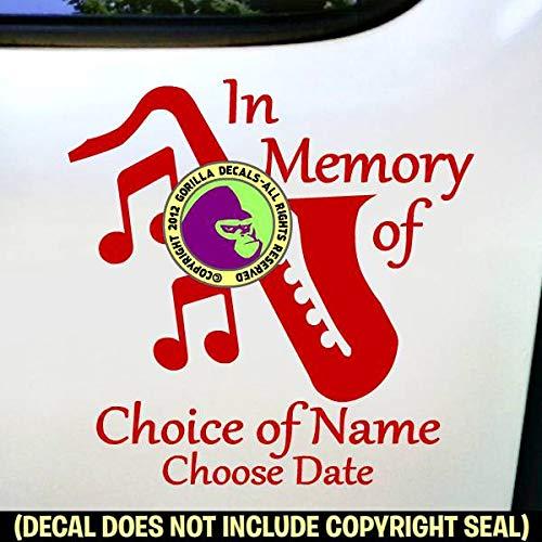 (JAZZ MUSIC - MEMORIAL - Vinyl Decal Sticker D)