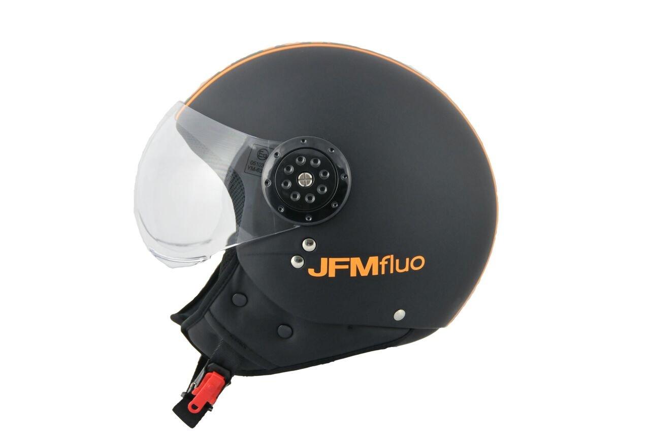 S, NERO//ARANCIO FLUO JFM CASCO JET 427 NERO//ARANCIO FLUO