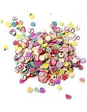 3300 stuks Mini 3D Fruit Plakken,Zachte Aardewerk Fruit Polymeer DIY Nail Art Slices Kleurrijke Fruit Clay Nail Slice Nagels Pailletten Nail Art Decoraties