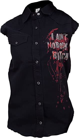 7c1bc3eea9 Spiral - Womens - Daryl Wings - Walking Dead Ladies Sleeveless Worker Shirt  - M
