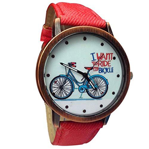 Waist Watch watches women Relogio fashion Geneva Women Jean Strap Bicycle Crystal Analog Quartz Wrist Watch Ladies diess Bracelet ()