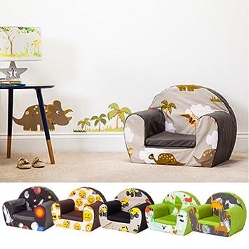 Shopisfy Toddler Furniture Foam Armchair - Emoji Girl Design