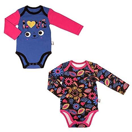 Lot de 2 bodies bébé fille manches longues Chachacha - Taille - 6 mois (68 9513081ba8d