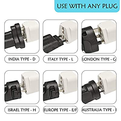 European Travel Plug Adapter (Type C) by Ceptics,  Universal to European EU, Power Charge your Electronics in Italy, Greece, Germany, Outlet Adaptor  3 Pack: Home Audio & Theater