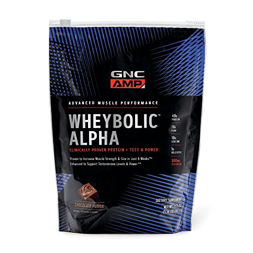 (GNC AMP Wheybolic Alpha Whey Protein Powder, Chocolate Fudge, 9 Servings, Contains 40g Protein and 15g BCAA Per Serving)