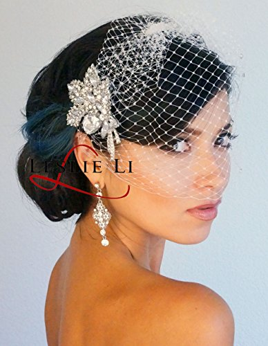 leslie-li-womens-bridal-headpiece-crystal-birdcage-veil-rhinestone-brooch-one-size-ivory-27-30987