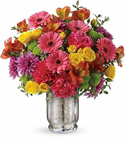 Plaza Flowers Fruit Punch Flower Arrangement Deluxe