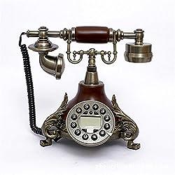 European antique phone, Corded -push button -retro vintage antique style desk phone-living home decor decoration-25x17x20cm-M