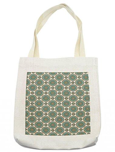 Lunarable Mandala Tote Bag, Far Eastern Spiritual Meditation Yoga Symbolic Universe Chakra Pattern, Cloth Linen Reusable Bag for Shopping Groceries Books Beach Travel & More, Cream by Lunarable