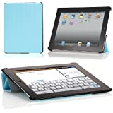 Poetic SLIMLINE Portfolio Case for Apple iPad 4 / iPad 3/ iPad 2 Navy Blue (Auto Sleep/Wake Function)(3 Year Manufacturer Warranty From Poetic)