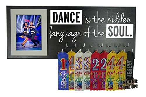 Running On The Wall-Gifts Athletes-Medal Display Rack-Medal Holder Athletes-Dance is The Hidden Language The ()