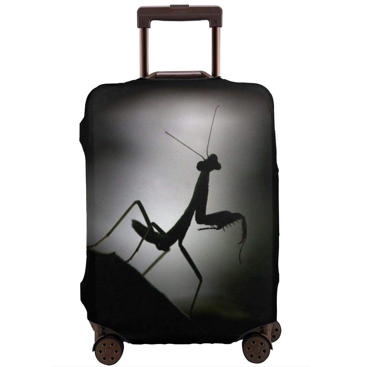 Yuotry Travel Luggage Cover Black Mantis Zipper Suitcase Protector Luggage with Fixed Buckle Fits 18-32 Inch Luggage XL