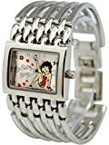 Silver Adjustable Bracelet Band Betty Boop Leg Kick Ladies Watch