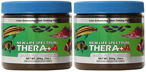 (2 Pack) New Life Spectrum Thera-A Small Fish 0.5mm Sinking Salt/Freshwater Pet Food, 200gm Review