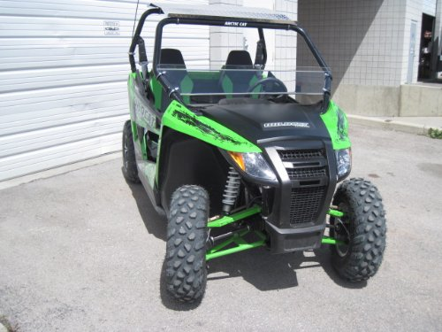 Arctic Cat Wildcat (Trail/Sport only) Premium Double Sided Scratch Resistant 12'' Tall Half WindshieldTallest on the market by UTV Windshields and Accessories