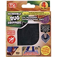 4 pk Reusable Rug Gripping Anti-Slip Pads