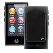 Fosmon Dura FRO Series (TPU) Semi Flex Skin Case with Sport Clip for Apple iPod Nano 7th Generation (2012) - Black (Fosmon Retail Packaging)