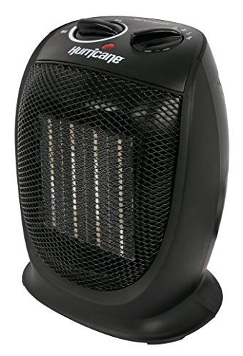 Hurricane Heat Ceramic Heater, 9 Inch, Black
