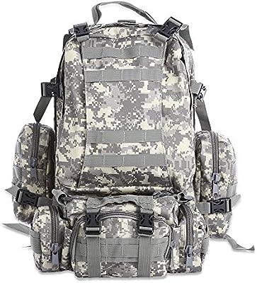 50L Bolsa mochila de senderismo al aire libre militar táctico Molle Mochila Mochilas Camping bolsa impermeable de camuflaje camuflaje acu,Bolsas de deporte