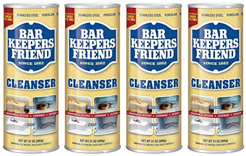 Bar Keepers Friend Powdered Cleanser 21-Ounces (4-Pack)