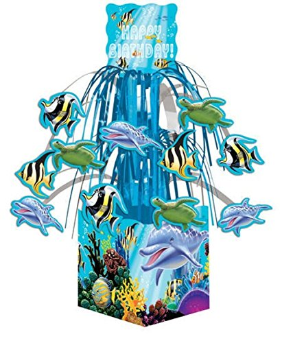 """UPC 762152953282, Club Pack of 96 Ocean Party """"Happy Birthday"""" Mini Cascade Centerpiece Party Decorations 12"""""""