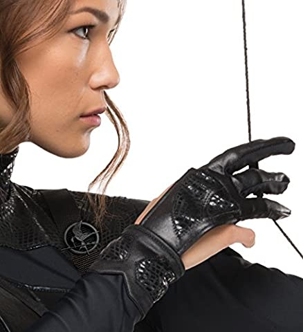 Rubie's Costume Co Women's The Hunger Games Katniss Glove, Black, One Size (Hunger Games Archer Kostüm)