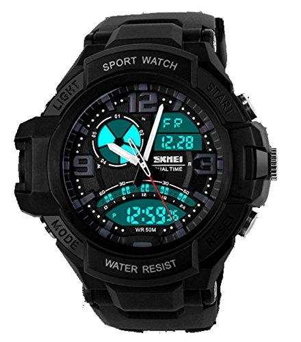 ufengke® moda fresca en tiempo-doble pantalla luminosa reloj deportivo al aire libre para hombres, niños, mejores excursiones de buceo reloj electrónico de ...