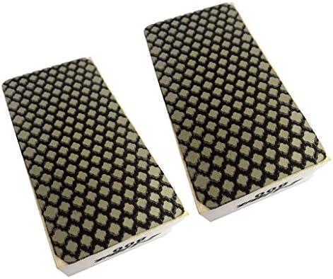 石花崗岩コンクリート簡単研磨用2個のダイヤモンドハンド研磨パッドグリッツ800