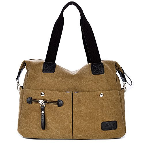 Handbags Bags Big Canvas Vintage Bag Tote Casual Shoulder Khaki Womens fTAxUqwZ