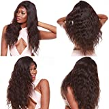 R&S 100% Real Full Lace Human Hair Wigs Especially Lifelike With Baby Hair For Black Women 130% Density Unprocessed Smooth and Breathable very Comfortable Full Lace Wigs (18'' 1B# Body Wave)