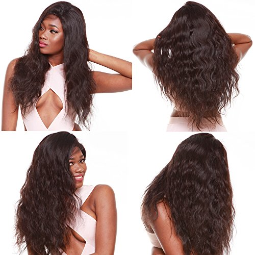 R&S 100% Real Full Lace Human Hair Wigs Especially Lifelike With Baby Hair For Black Women 130% Density Unprocessed Smooth and Breathable very Comfortable Full Lace Wigs (18'' 1B# Body Wave) by R&S RONG&SHENG