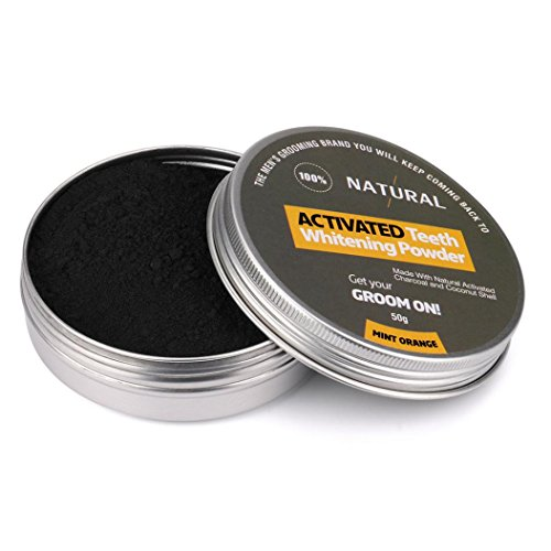 Price comparison product image DETALLAN Activated Tooth Whitening Powder Natural Organic Teeth Cleaning, Black(2.47 OZ)