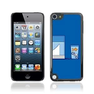 CQ Tech Phone Accessory: Carcasa Trasera Rigida Aluminio Para Apple iPod Touch 5 - Goldfish Motorcycle Jump Illustration