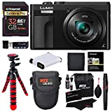 Panasonic DC-ZS70K Lumix 20.3 Megapixel, 4K Digital Camera, Touch Enabled 3' 180 Degree Flip-Front Display, 30x Leica DC Vario-Elmar Lens, Wi-Fi with 3' LCD, Black, Polaroid 32GB and Accessory Bundle