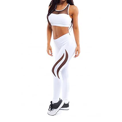 0d852296bebdc Leggings Pants, Litetao Women High Waist Sports Yoga Running Skinny  Athletic Trouser (S,
