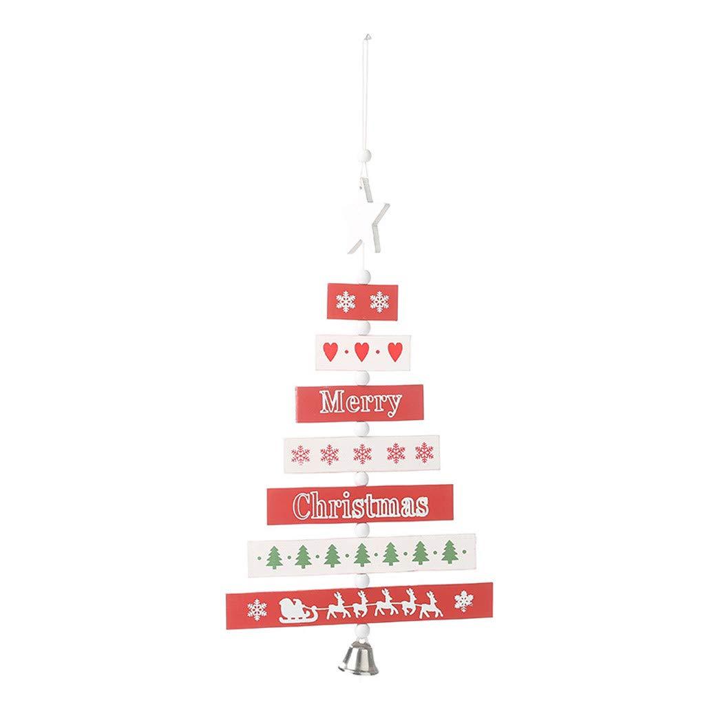 Xmas Door Sign Plaque Wall Hanging Wooden Christmas Ornament Home Pendant Decor