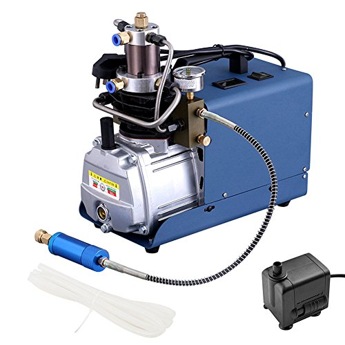 HiHydro 110V 300BAR 30MPA 4500PSI Electric high pressure pump Air Compressor for Pneumatic PCP Inflator Airgun Scuba Rifle Pump (Adjustable auto-Stop 110V) 30 Min Fire Protection