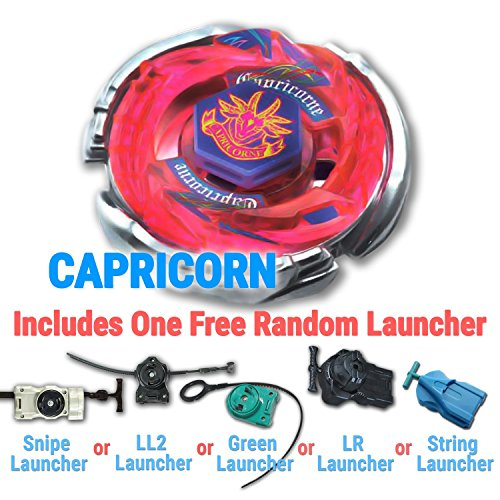 Beyblade BB-100 CAPRICORN DF145Q Metal Masters with Free Bon