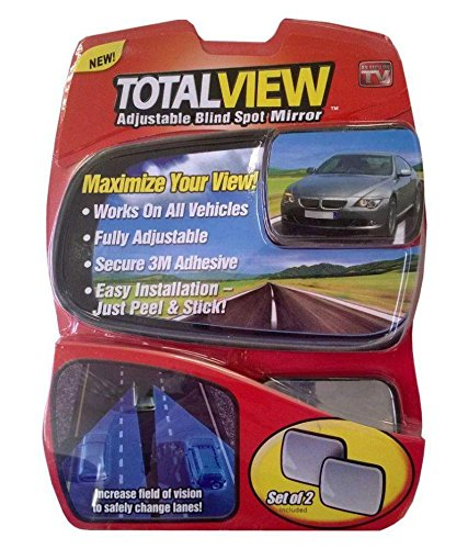 Total View 360 Adjustabe Blind Spot Mirror