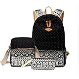 Girls School Backpack Crossbody Bags For Women Travel Bags Bookbag Blue Ethnic 3pcs