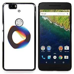 "For Huawei Google Nexus 6P Case , Cuerda Vibrante Teoría Física Blanca"" - Diseño Patrón Teléfono Caso Cubierta Case Bumper Duro Protección Case Cover Funda"