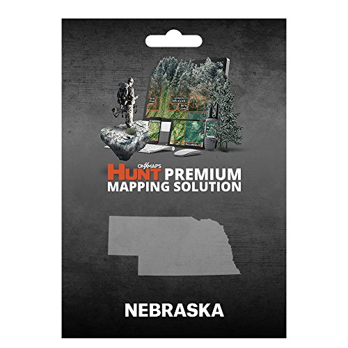 onXmaps HUNT Nebraska: Digital Hunting Map For Garmin GPS + Premium Membership For Smartphone and Computer Color Coded Land Ownership 24k Topo Hunting Specific Data