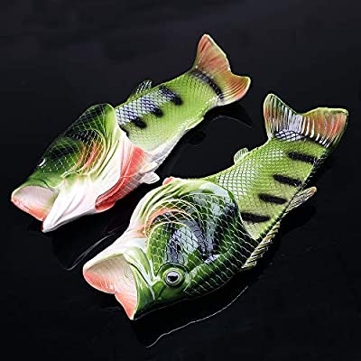 Unisex Fish Slippers, bass Sandals, Animal Slippers Animal Fish Slippers, Fish Flops
