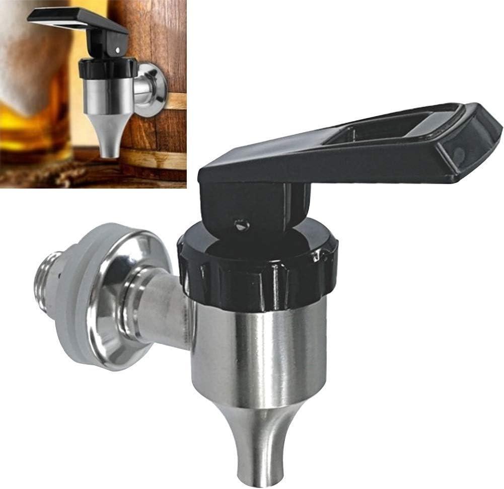 Dispensador de Bebidas Repuesto Grifo, Acero Inoxidable Dispensador de Agua Grifo para Zumo/Bebida Fría/Cerveza/Vino Barril, para 16~20mm Agujero Latas de Cerveza Barriles - Plata 1PC