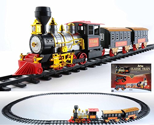 Animated Train - Northlight 17-Piece Battery Operated Lighted & Animated Classics Train Set with Sound